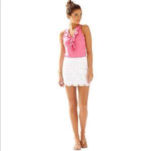 Lilly Pulitzer | White Eyelet Tate Mini Skirt